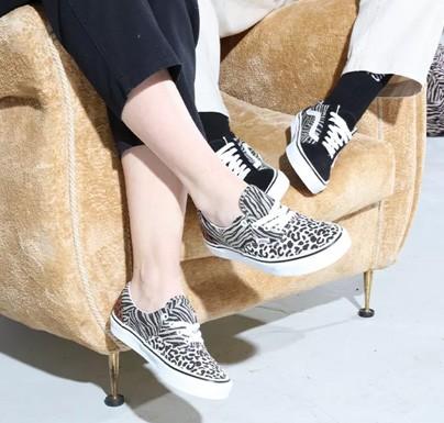 Vans sneakers with animal print