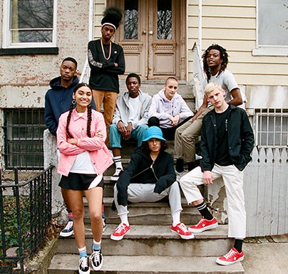 Group of people using Converse shoes