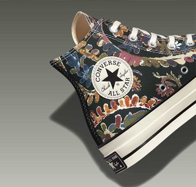 Converse sneakers with flower design